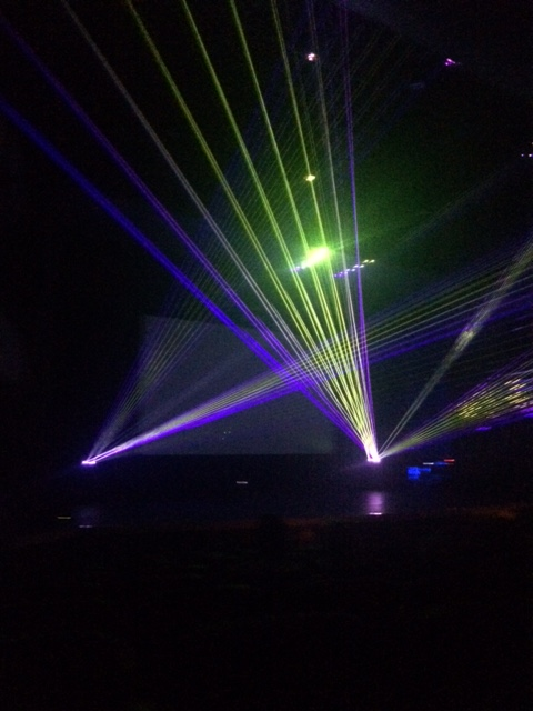 laser lights Starting!