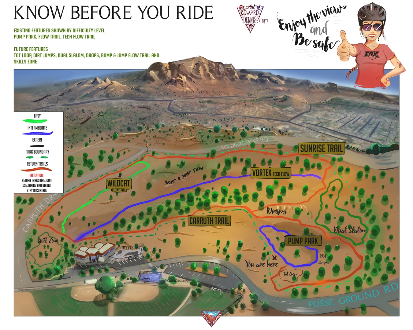 map of sedona az area with Bike Skills Park on Page likewise Arizona And The Grand Canyon besides Bike Skills Park further Directions besides Dead Horse Ranch State Park Map.