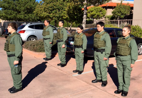 Police explorers in formation