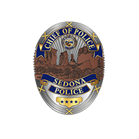 Illustration of Sedona Police badge