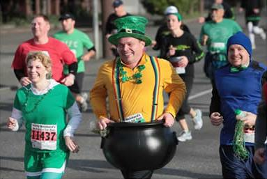 Runners in the St Patrick's parade