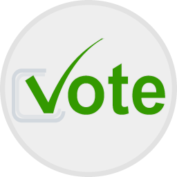 Illustration of a voting button