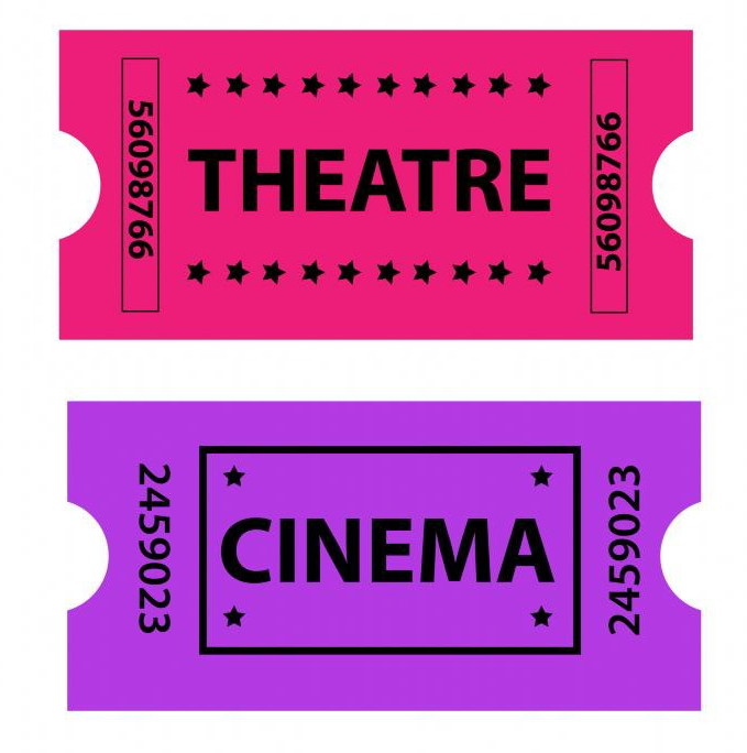 Theater cinema ticket illustration