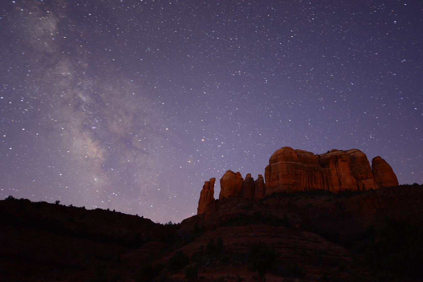 Milky Way Cathedral Rock by AJ Cook