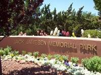 Jack Jamesen Park entrance sign