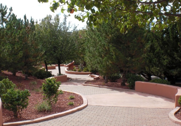 A walkway at Jack Jamesen Park