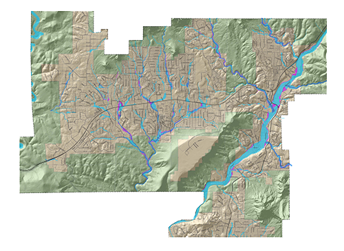 Illustration of a GIS map