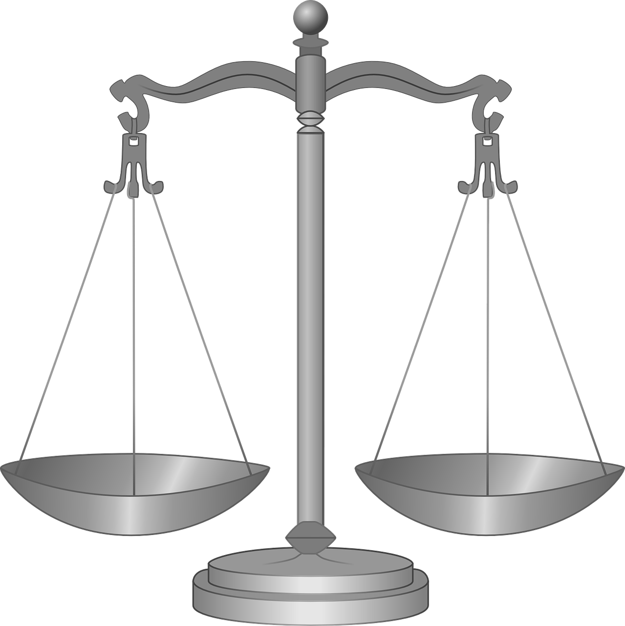 Drawing of scales of justice