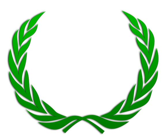 graphic of a laurel wreath