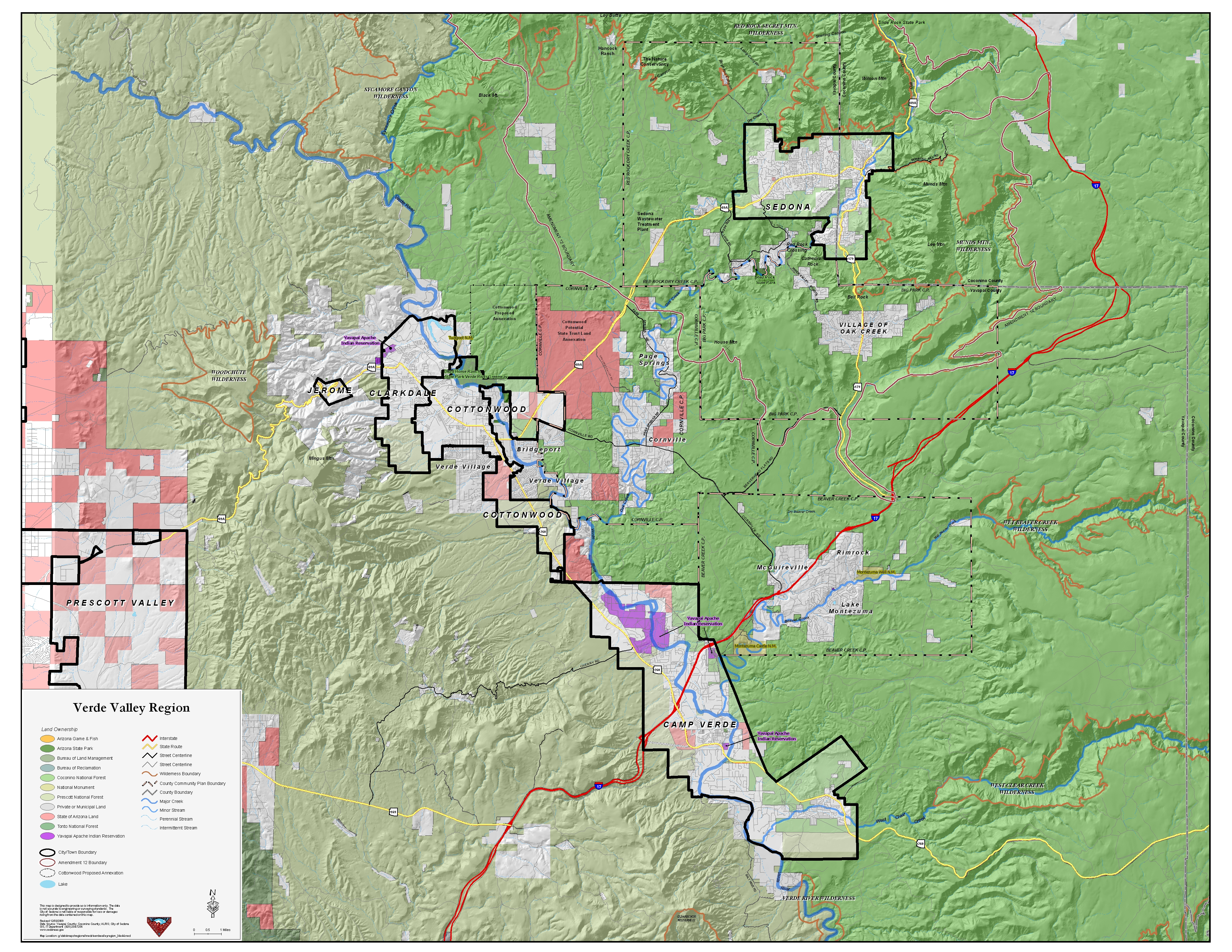 Map Of Arizona Including Sedona.Sedona Verde Valley Maps Maps Of Sedona The Verde Valley And